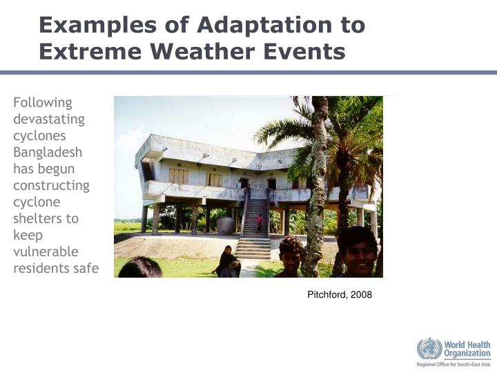 Examples of Adaptation to Extreme Weather Events