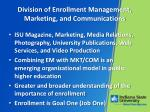 division of enrollment management marketing and communications