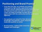 positioning and brand promise