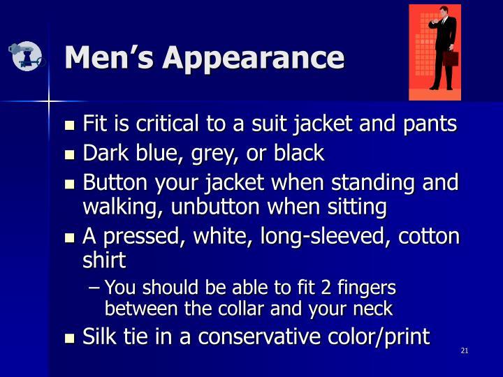 Men's Appearance