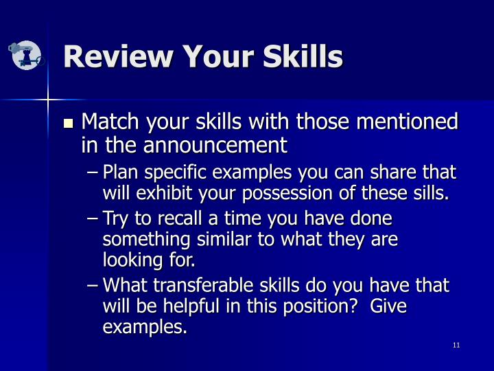 Review Your Skills
