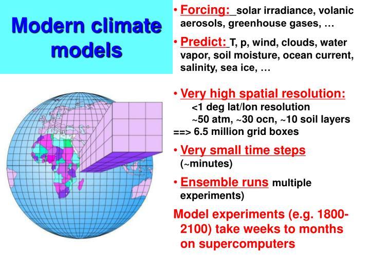 Modern climate models