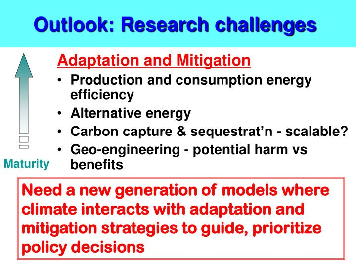 Outlook: Research challenges