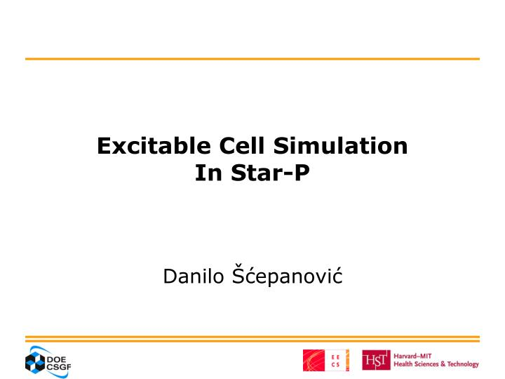 excitable cell simulation in star p