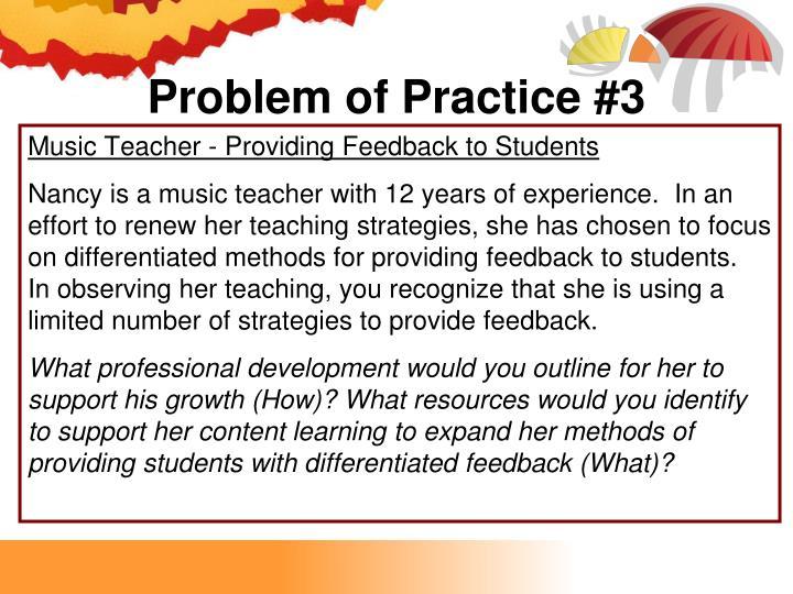 Problem of Practice #3