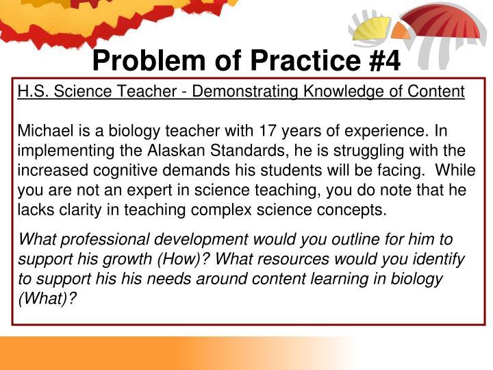 Problem of Practice #4