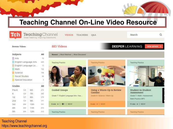 Teaching Channel On-Line Video Resource