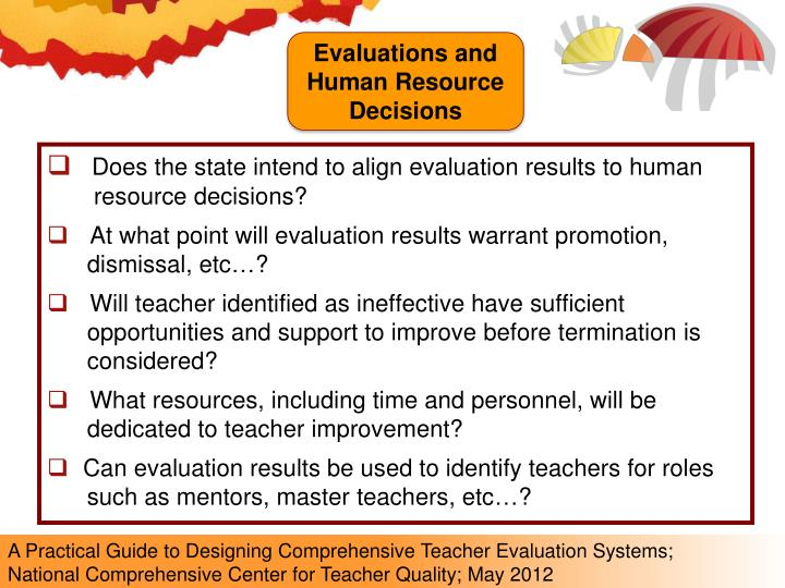 Evaluations and Human Resource Decisions
