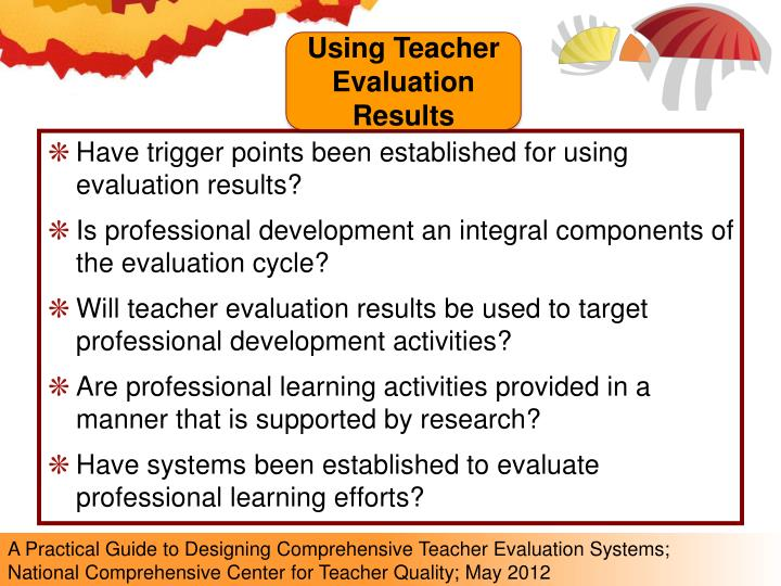 Using Teacher Evaluation Results