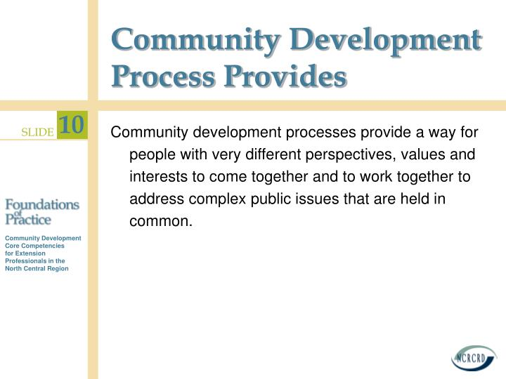Community Development Process Provides