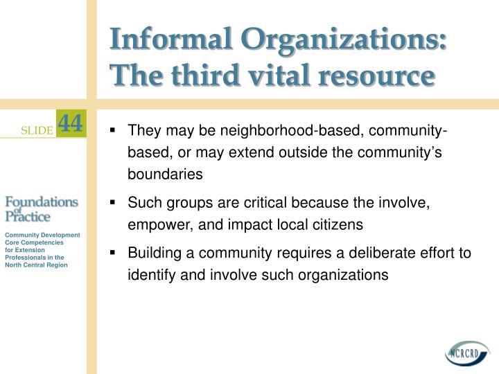 Informal Organizations: