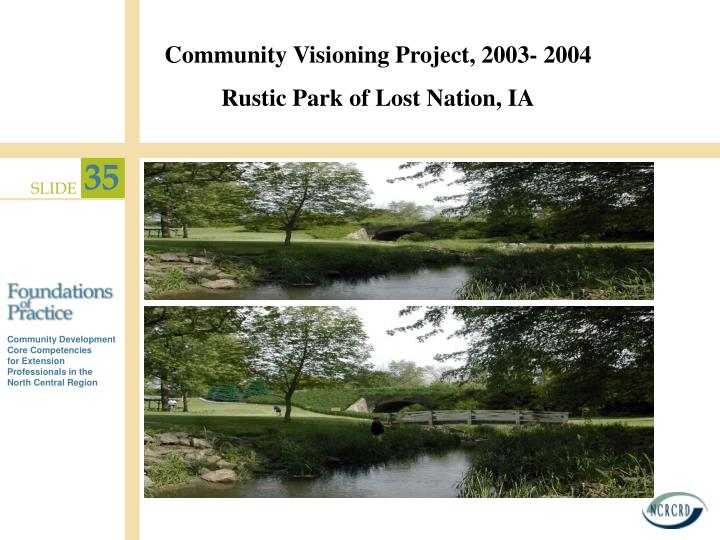 Community Visioning Project, 2003- 2004