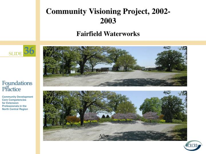 Community Visioning Project, 2002- 2003