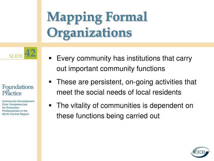 Mapping Formal Organizations