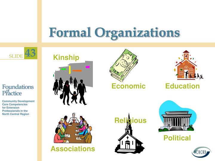 Formal Organizations