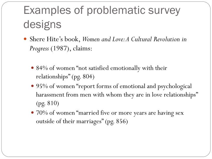Examples of problematic survey designs
