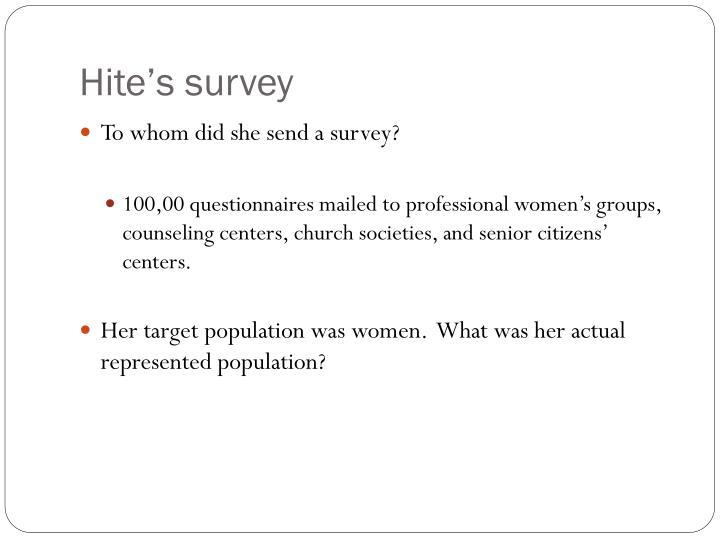 Hite's survey
