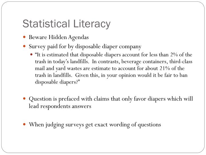 Statistical Literacy