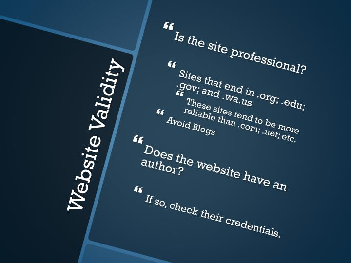 Is the site professional?