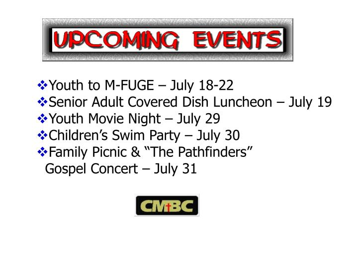 Youth to M-FUGE – July 18-22