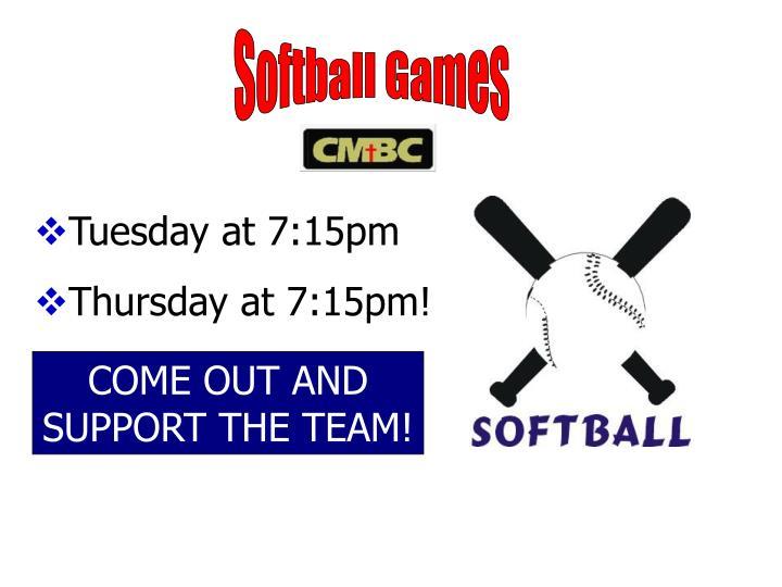 Softball Games