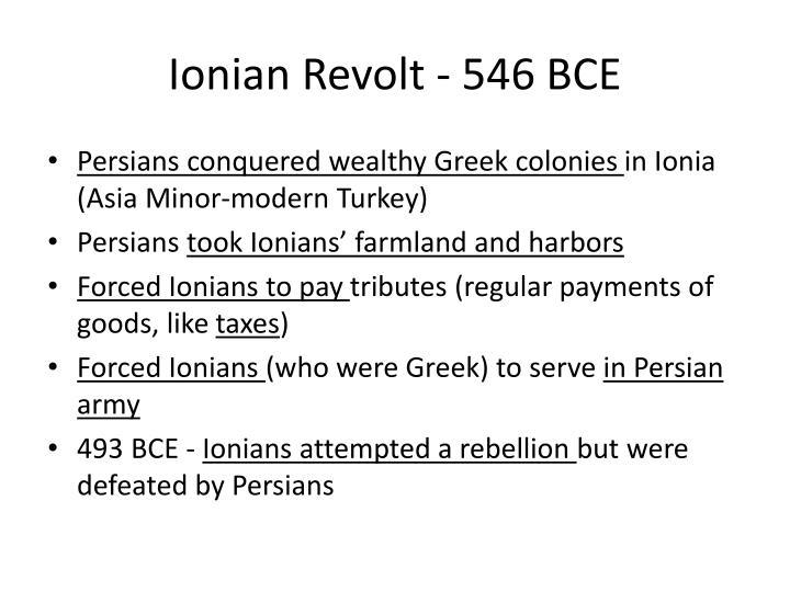 Ionian Revolt - 546 BCE