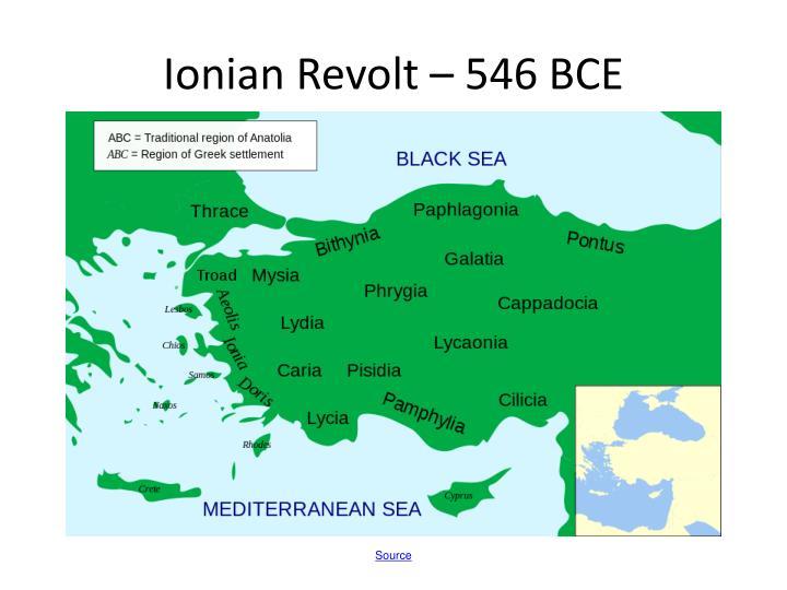Ionian Revolt – 546 BCE