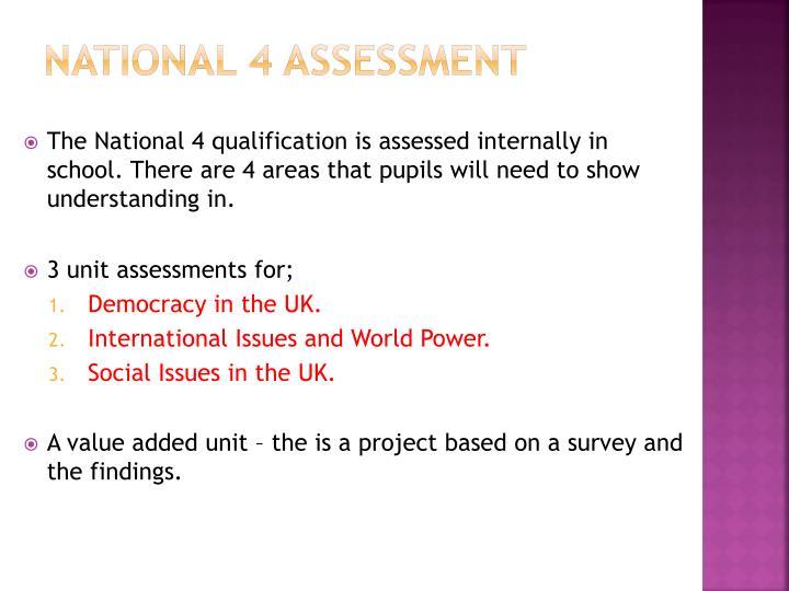 National 4 assessment