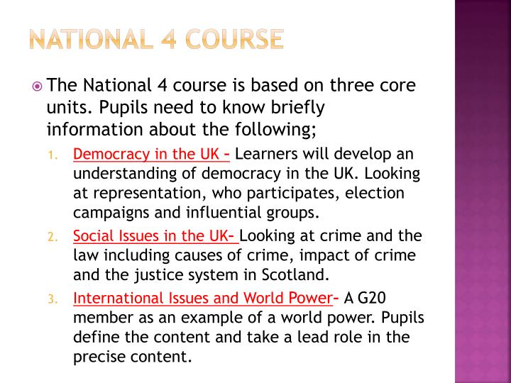 National 4 course