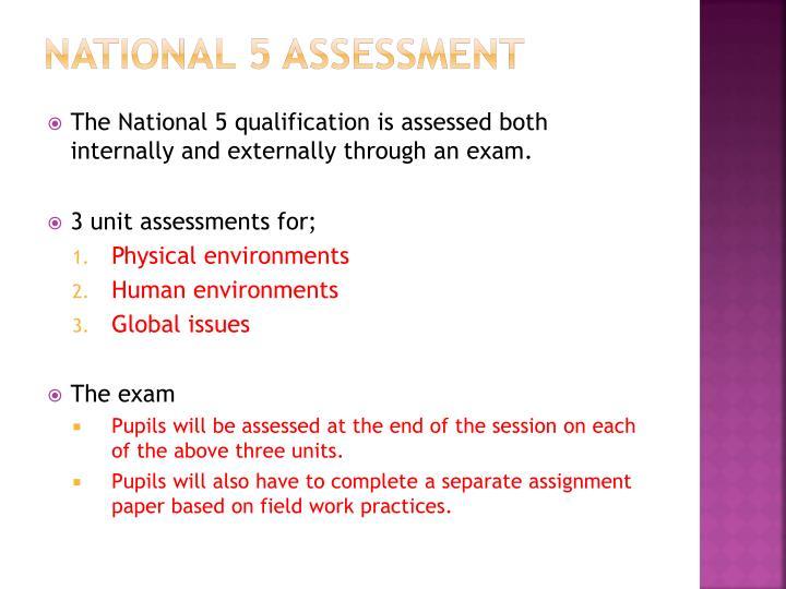 National 5 assessment