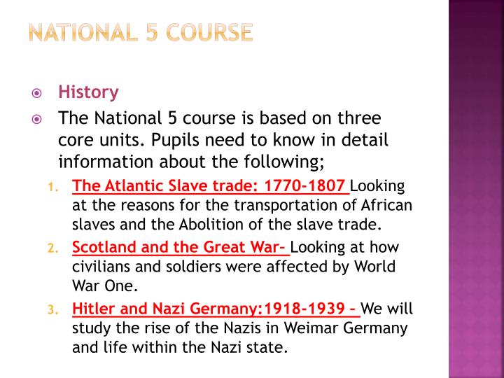 National 5 course