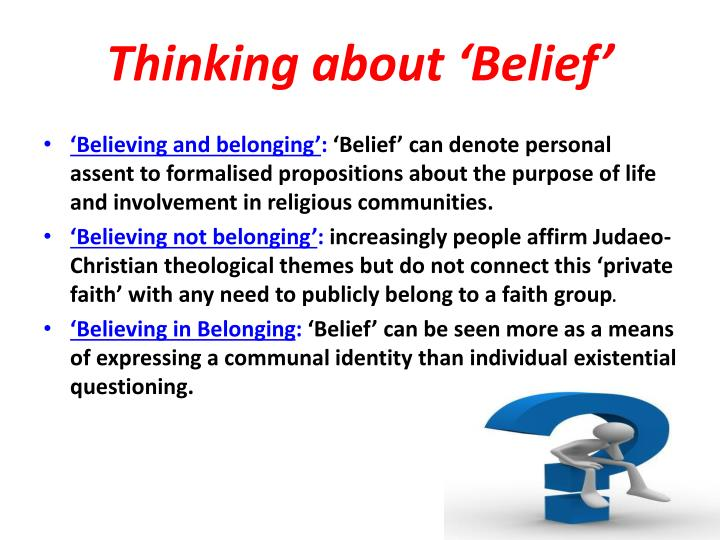 Thinking about 'Belief'