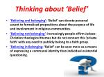 thinking about belief