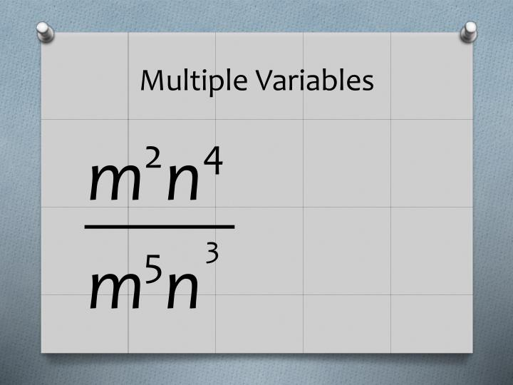 Multiple Variables
