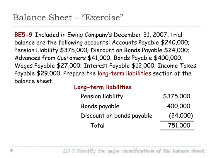 "Balance Sheet – ""Exercise"""