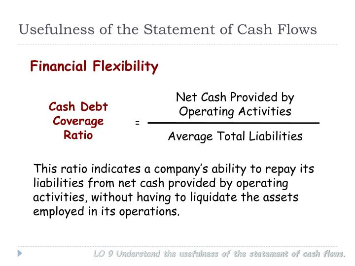 Usefulness of the Statement of Cash Flows