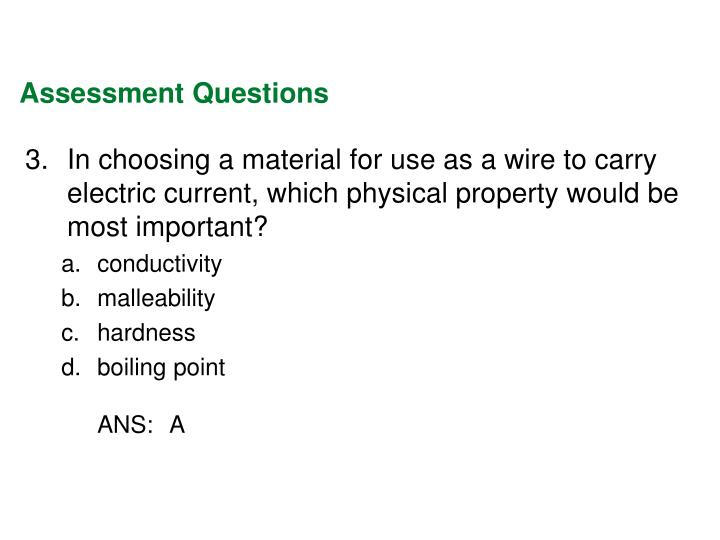 Assessment Questions