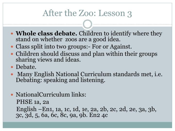 After the Zoo: Lesson 3