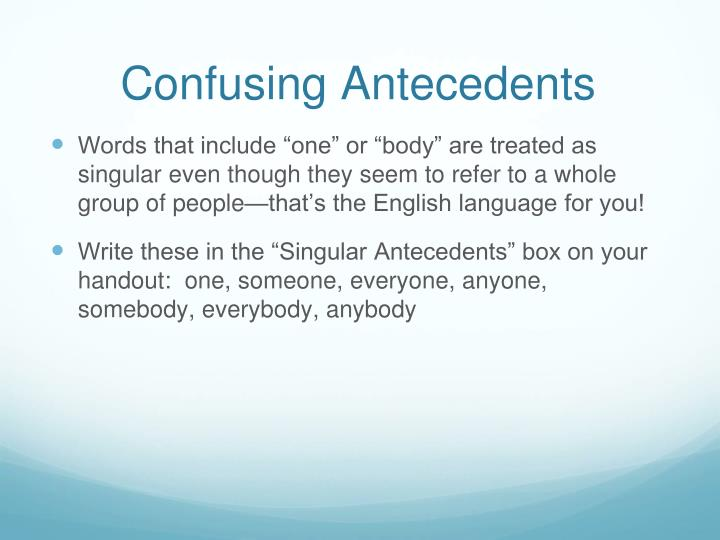 Confusing Antecedents