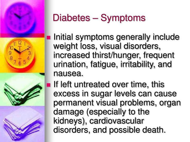 Diabetes – Symptoms