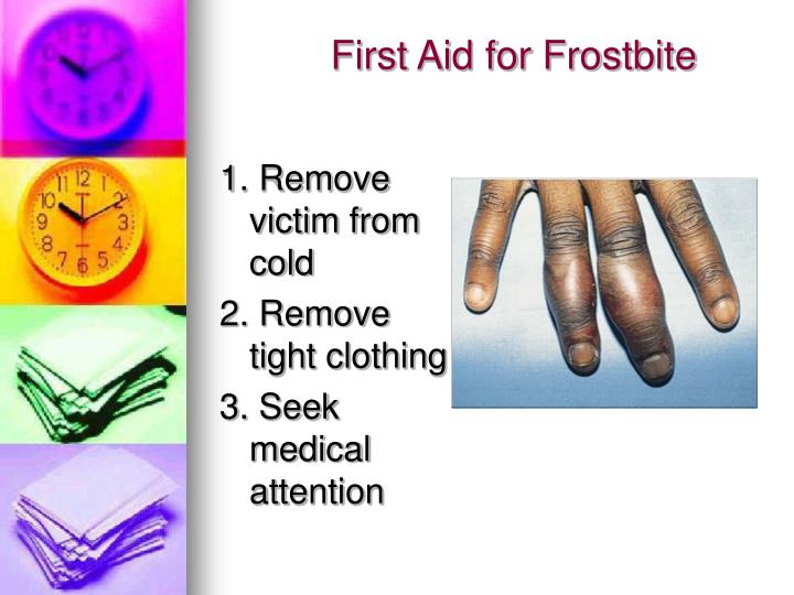 First Aid for Frostbite