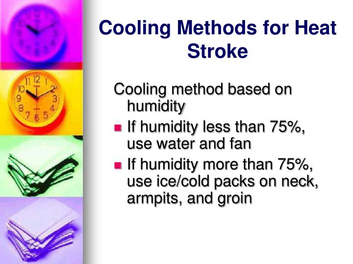 Cooling Methods for Heat Stroke