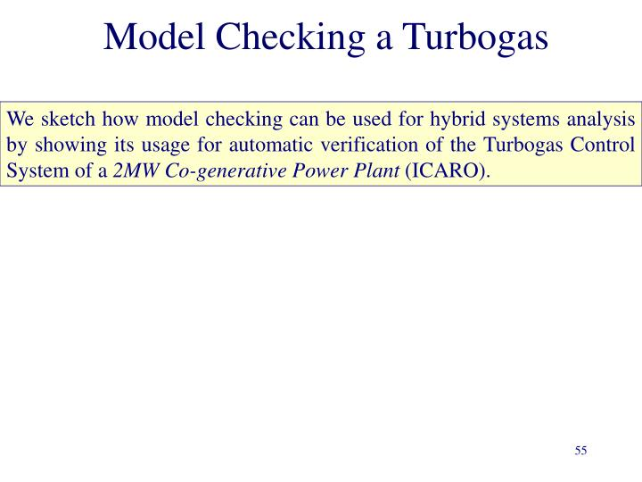 Model Checking a Turbogas