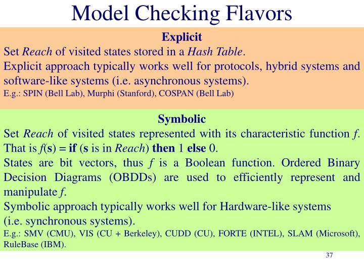 Model Checking Flavors