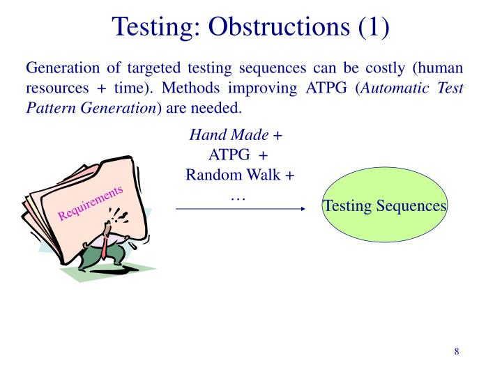 Testing: Obstructions (1)