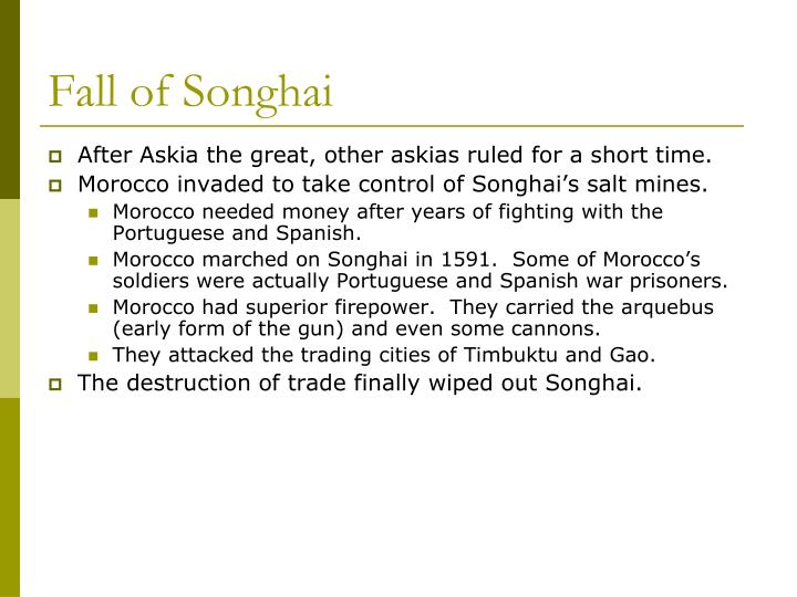 Fall of Songhai