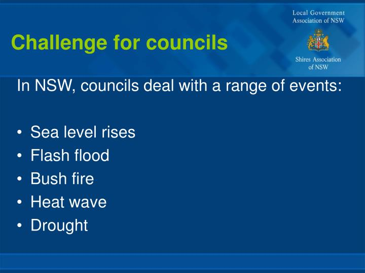 Challenge for councils