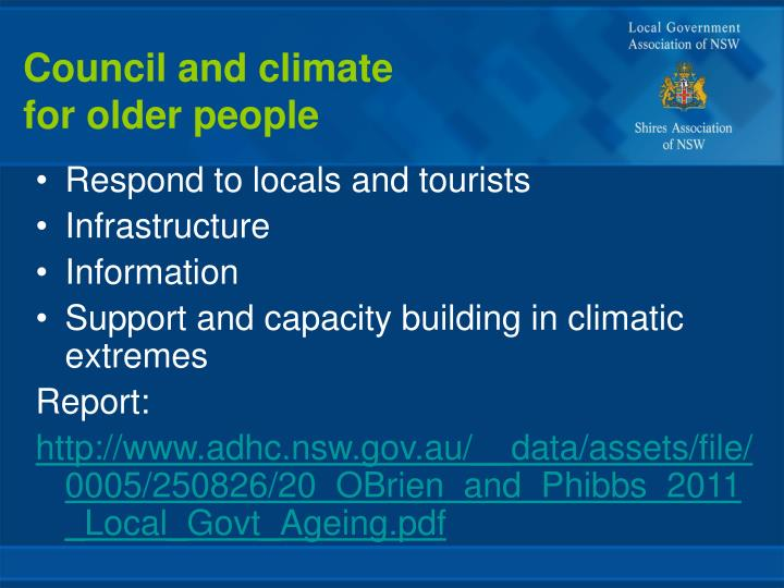 Council and climate