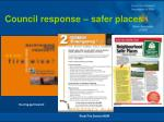 council response safer places