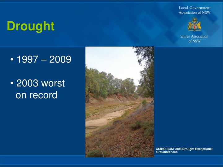 CSIRO BOM 2008 Drought Exceptional circumstances